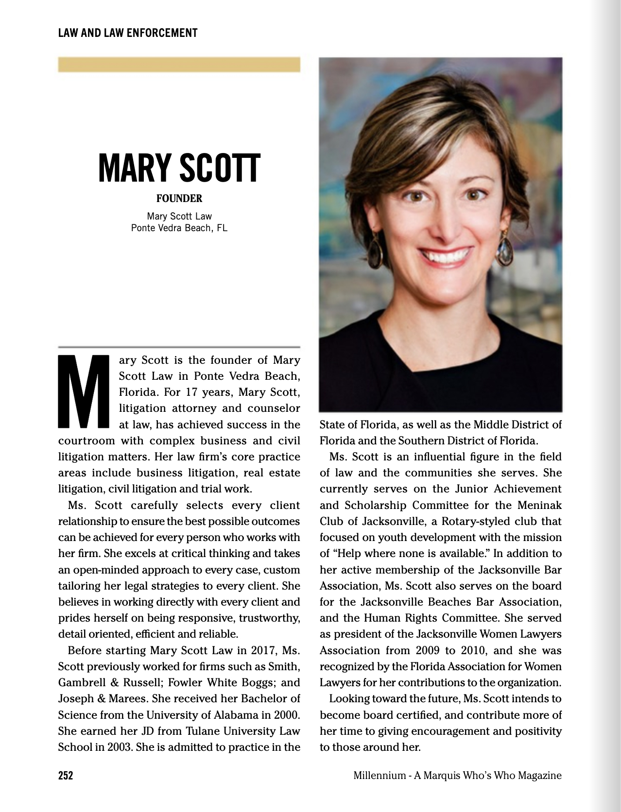 Mary Scott Featured in Who's Who of American Women 2020-2021
